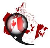 Indicateur canadien illustration de vecteur