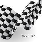 Indicateur checkered de ondulation Emballage de l'indicateur Illustration de vecteur illustration stock