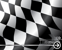 Indicateur Checkered de vecteur Photo stock