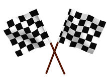 Indicateur checkered terminant Photo stock