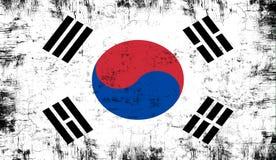 indicateur Corée du sud Vieux fond grunge patriotique de texture de cru illustration libre de droits