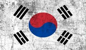 indicateur Corée du sud Vieux fond grunge patriotique de texture de cru illustration stock