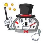 Indicateur d'essence de magicien dans la mascotte d'a illustration stock