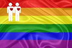 Indicateur d'homosexuel d'arc-en-ciel Photographie stock