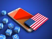 indicateur de 3D Etats-Unis Images stock