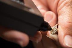 Indicateur de Diamond Tester Gemstone Selector Gem LED images libres de droits