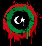 Indicateur de grunge de la Libye Image libre de droits