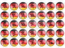 Indicateur de l'Allemagne de simbols de jeu d'été d'Olimpic Photos stock