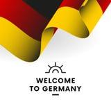 Indicateur de l'Allemagne Vecteur illustration libre de droits