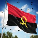 indicateur de l'Angola Photographie stock libre de droits