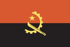 indicateur de l'Angola Photos stock