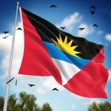 Indicateur de l'Antigua et du Barbuda Photos libres de droits