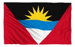 Indicateur de l'Antigua et du Barbuda Photographie stock libre de droits