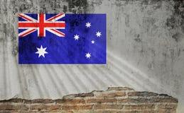 Indicateur de l'Australie Drapeaux des ressortissants de la rotation de pays du monde illustration de vecteur