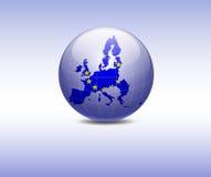 Indicateur de l'Europe dans le globe Images libres de droits