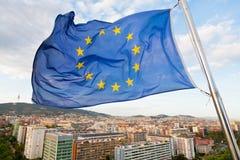 Indicateur de l'Europe sous Barcelone Images stock