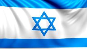 Indicateur de l'Israël Vidéo faite une boucle sans couture, longueur illustration stock