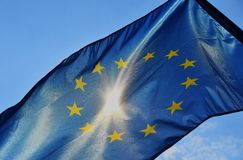 Indicateur de l'Union européenne photo stock