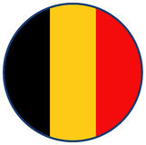 Indicateur de la Belgique Photo stock