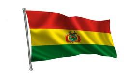 Indicateur de la Bolivie Une série de drapeaux de ` du monde ` Le pays - drapeau de la Bolivie Images stock