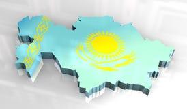 indicateur de la carte 3d de khazakstan illustration libre de droits