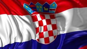 Indicateur de la Croatie illustration de vecteur