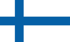 Indicateur de la Finlande Photos libres de droits