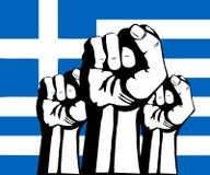 Indicateur de la Grèce. Crise et protestations en Grèce illustration de vecteur