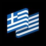Indicateur de la Grèce d'isolement Bannière grecque de ruban Symbole d'état illustration stock