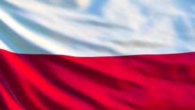 Indicateur de la Pologne Drapeau de ondulation d'illustration de la Pologne 3d illustration libre de droits