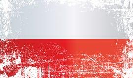 Indicateur de la Pologne Taches sales froissées illustration libre de droits