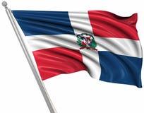Indicateur de la république dominicaine illustration de vecteur