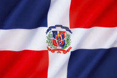 Indicateur de la république dominicaine Photographie stock libre de droits