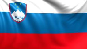 Indicateur de la Slovénie Vidéo faite une boucle sans couture, longueur illustration de vecteur