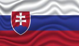 Indicateur de la Slovaquie photographie stock libre de droits