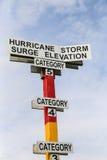 Indicateur de montée subite de tempête Photo libre de droits