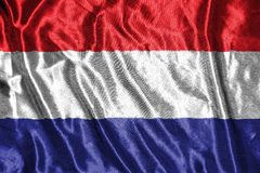 Indicateur de Netherland drapeau sur le fond Photos libres de droits