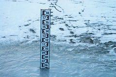 Indicateur de niveau de l'eau Photographie stock