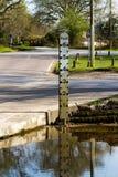 Indicateur de niveau de rivière Photos stock