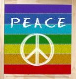 Indicateur de paix sur le tableau Photo stock