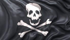 Indicateur de pirate ondulant dans l'illustration de wind Photos libres de droits