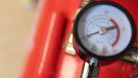Indicateur de pression industriel de compresseur d'air, foyer de support banque de vidéos