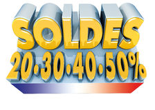 Indicateur de Soldes et de la France Photos stock