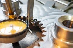 Indicateur de type levier en industrie mécanique pour l'alignement précis des parties le long de l'axe photographie stock libre de droits