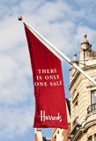 Indicateur de vente de Harrods Image stock