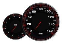 Indicateur de vitesse illustration stock