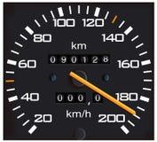 Indicateur de vitesse détaillé de vecteur Images stock