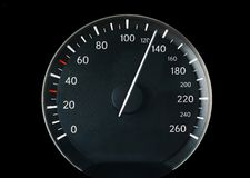 Indicateur de vitesse d'un véhicule Images libres de droits