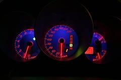 Indicateur de vitesse de nuit Photos libres de droits