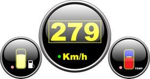 Indicateur de vitesse de tableau de bord Images libres de droits